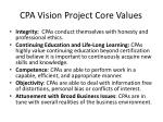 cpa vision project core values