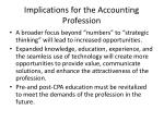 implications for the accounting profession