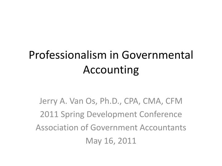 professionalism in governmental accounting n.