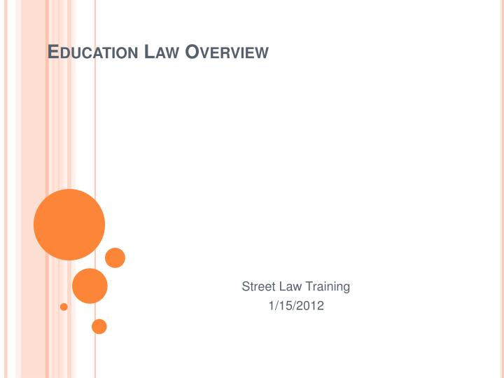 education law overview n.