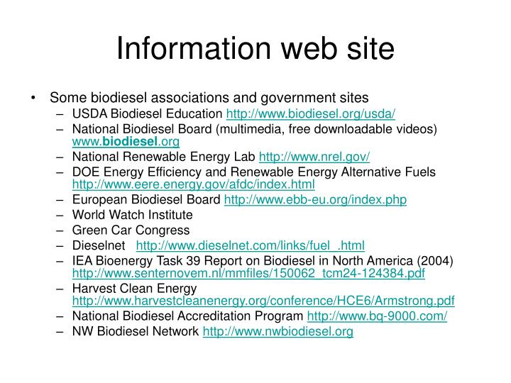 Information web site