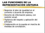 las funciones de la representaci n unitaria