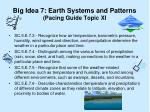 big idea 7 earth systems and patterns pacing guide topic xi
