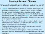 concept review climate