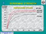 screening strength temperature cycling
