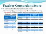 teacher concordant score1