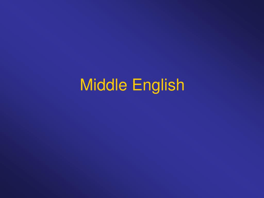 middle english l.