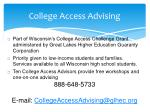 college access advising