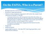 on the fafsa who is a parent