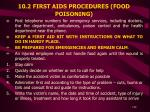 10 2 first aids procedures food poisoning
