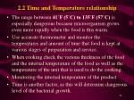 2 2 time and temperature relationship