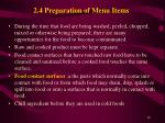2 4 preparation of menu items