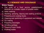 4 2 sewage and drainage