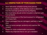 6 2 inspection of purchased food
