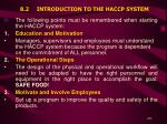 8 2 introduction to the haccp system