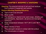 chapter 9 washing sanitizing
