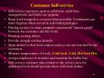 customer self service