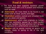 food moisture