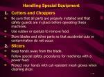 handling special equipment