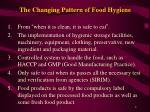 the changing pattern of food hygiene