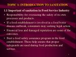 topic 1 introduction to sanitation