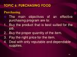 topic 6 purchasing food