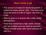 water activity ph