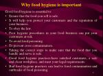 why food hygiene is important