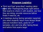 program logistics1