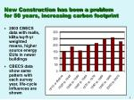 new construction has been a problem for 50 years increasing carbon footprint