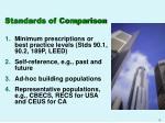 standards of comparison