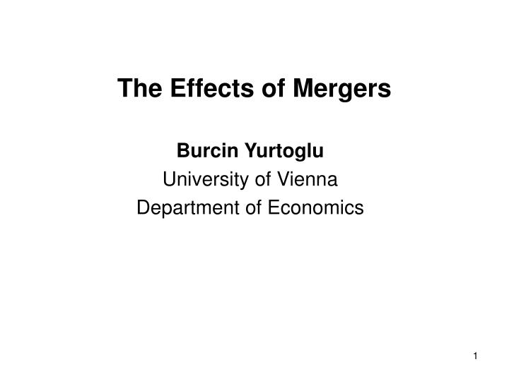 the effects of mergers n.