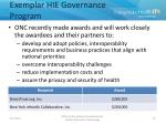 exemplar hie governance program
