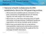 national hie governance forum