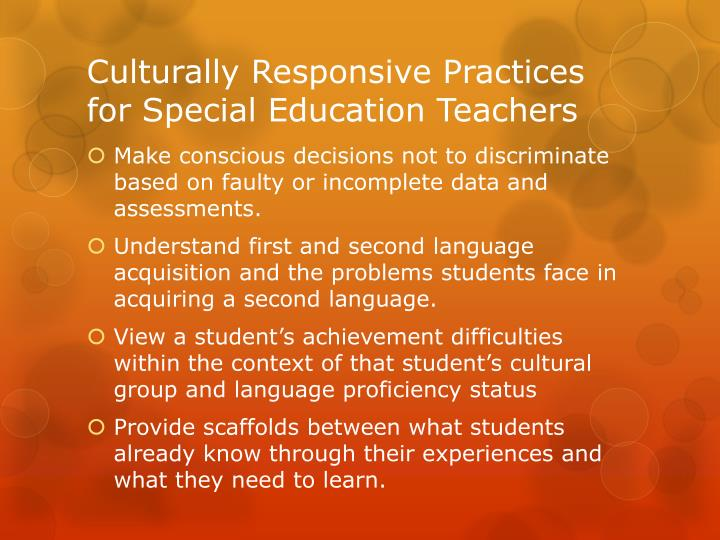 Culturally Responsive Practices for Special Education Teachers