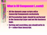 what is bv component contd