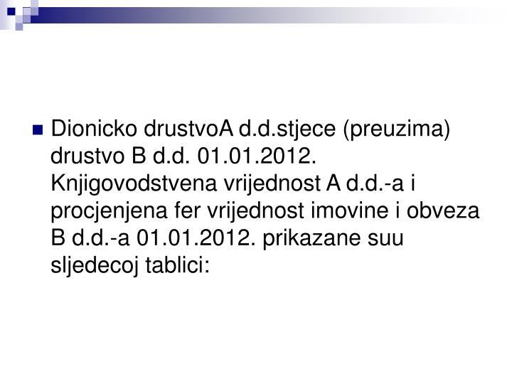 Dionicko drustvoA d
