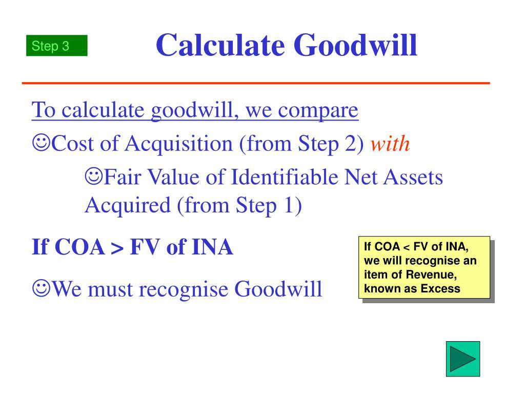 calculate goodwill l.
