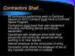 contractors shall