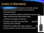 duties of attendants1