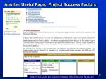 another useful page project success factors