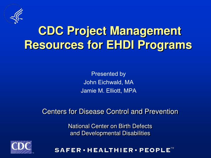 cdc project management resources for ehdi programs n.