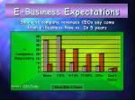 e business expectations