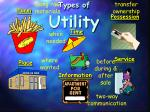 types of utility
