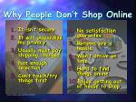 why people don t shop online