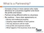 what is a partnership