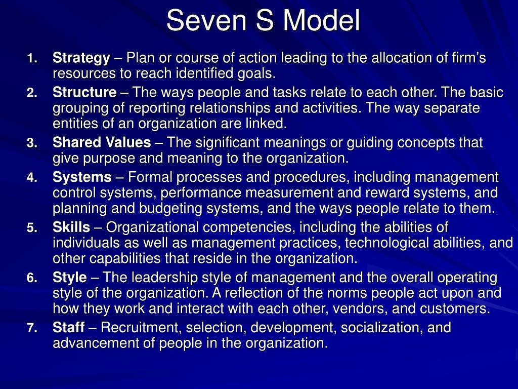 Seven S Model