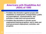 americans with disabilities act ada of 1990
