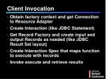client invocation