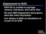 deployment to bas